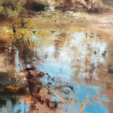 New - Claire Wiltsher Surface reflection V 80X80CM £1295