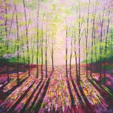 Woods Enchantment Amanda Horvath acrylics on canvas 61x61cms £650