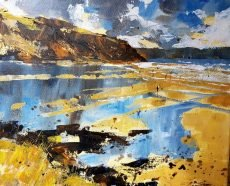 Beach reflections, Wembury 25x30cm £550