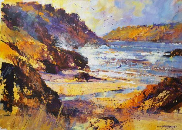 Bright morning, Sunny Cove, Salcombe 40x60 £1200
