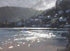 Light on the River Dart 21x30cm Oil £525