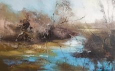 New - Claire Wiltsher Lost in reflection V11 100x70cm £1550