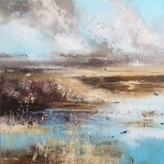 New - Claire Wiltsher Marshland against the elements 1V 80x80cm £1295