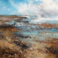 New - Claire Wiltsher Rain cloud 1V 80X80CM £1295