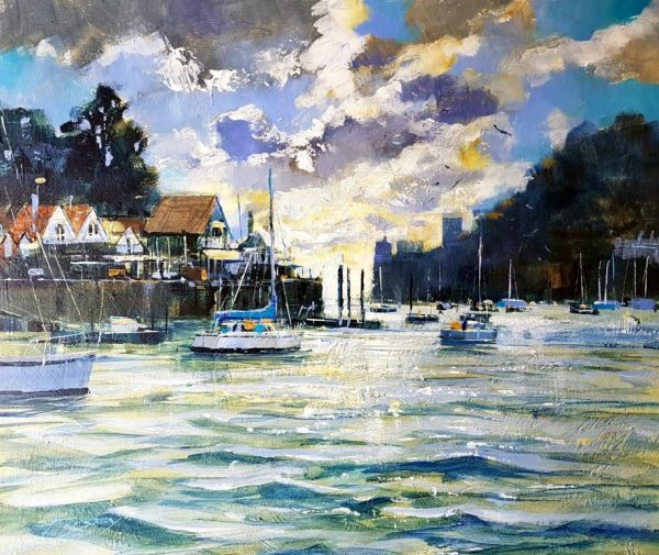 Sailing out to sea, Dartmouth 50x60 £1350
