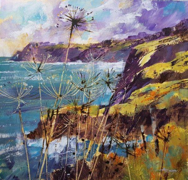 Seedheads and cliffs, Prawle 35x40 £950