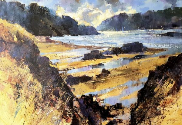 Spring weather, Sunny Cove, Salcombe 60x85 £1550