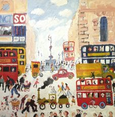 Traction Engine at Piccadilly 32 x 32 £4500 (oil canvas)