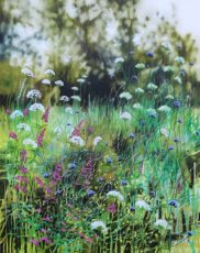 Dylan Lloyd - Dorset wild garden 2020. 100 x 80cm. £1600