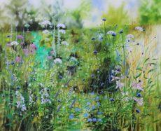 Dylan Lloyd - Summer Island garden 2020. 100 x 80cm £1600