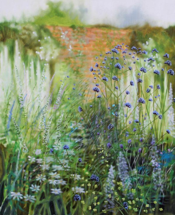 Dylan Lloyd - Wiltshire summer border I 2020. 76 x 60cm £950