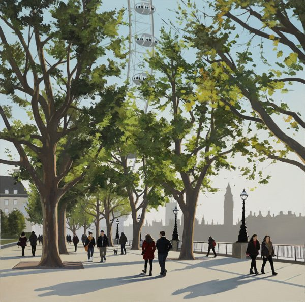 Late Afternoon, Southbank 61x61 £1295