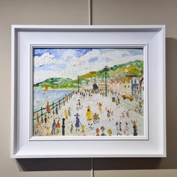 Frame Simeon Stafford, Walking on South Embankment, Dartmouth, 61x46 £1750