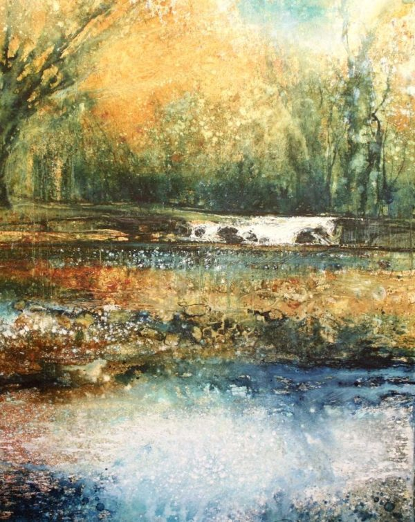Golden Afternoon by the Dart (40 x 44cm)
