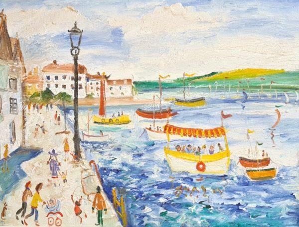 Simeon Stafford Summer at Bayards Cove, Dartmouth 64x35 £1500