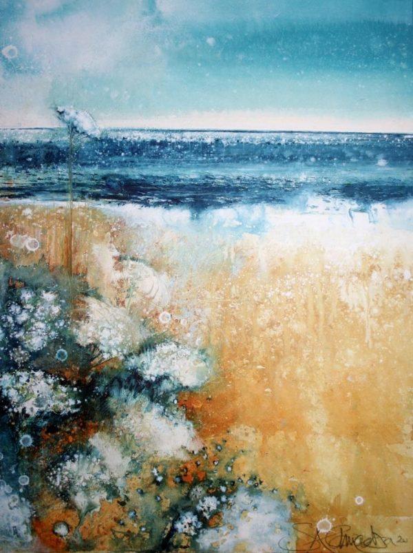 Sun, Sand, Wild Carrot, Slapton (40 x 52cm)