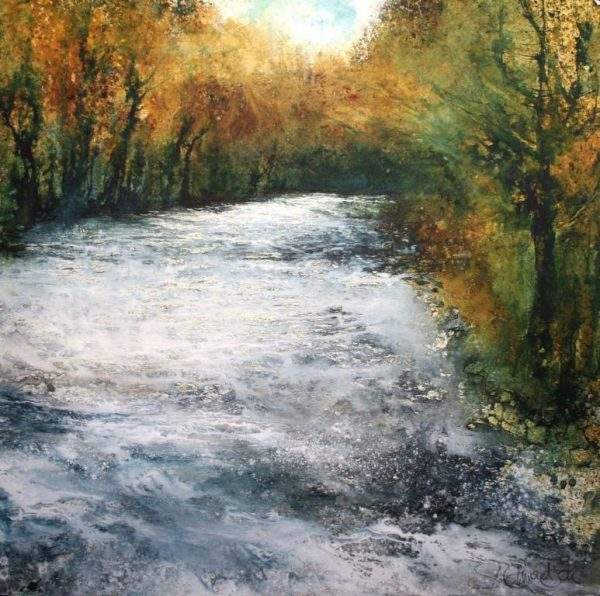 The Wild Run - Down to Holne Bridge (79 x 80cm)