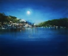 AMANDA HOSKIN MOON OVER KINGSWEAR, 22X7