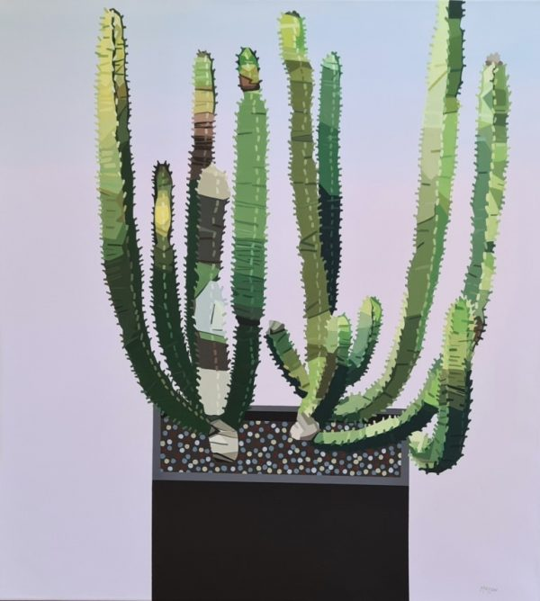 Euphorbia_Cactus Garden(80x90 cm)