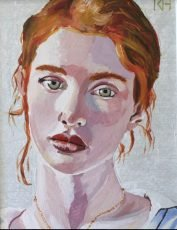 KEITH HEMSLEY RED HAIRED GIRL 15X19