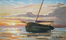 NSJROSSE BOAT AT SUNSET 15X9