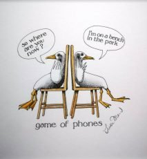 SIMON DREW GAME OF PHONES 14X15