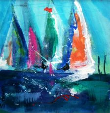 SUE BOWN RIVER SAILS 21X21