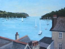 Sailing out of Dartmouth, 30x40cm