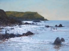 Sparkling light at Hope Cove, 30x40cm