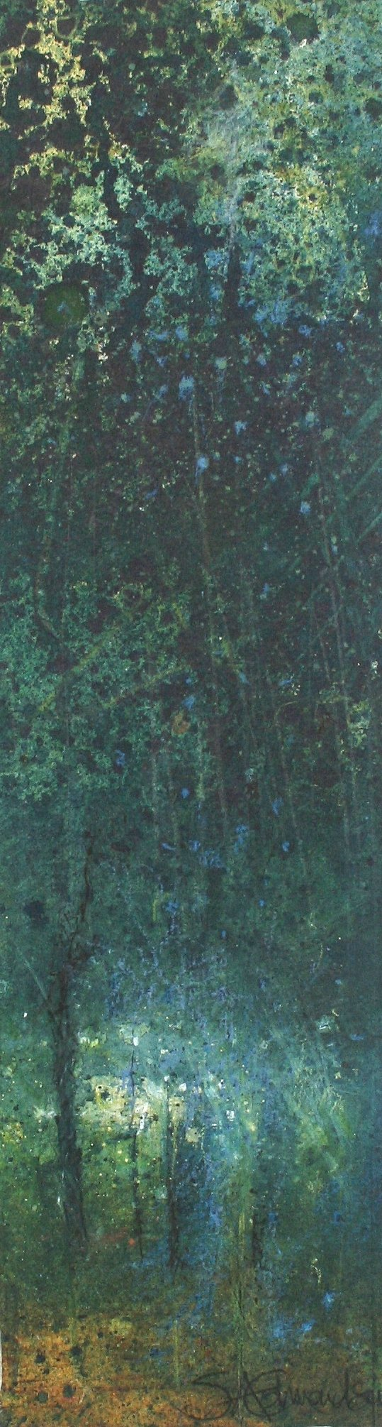 Through to Where the Blue Shines (10 x 21cm) (002)