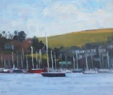 View across Dartmouth Harbour, 25x30cm