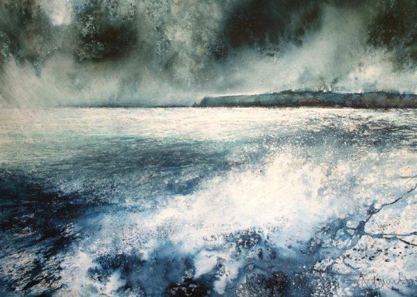 Wild Sea to Prawle Point (61 x 91cm) (002)