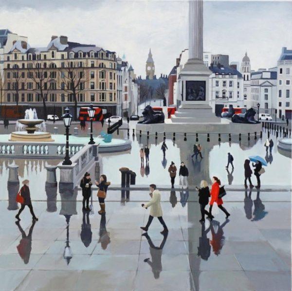 After the Rain, Trafalgar Square 61x61 £1295 - Copy