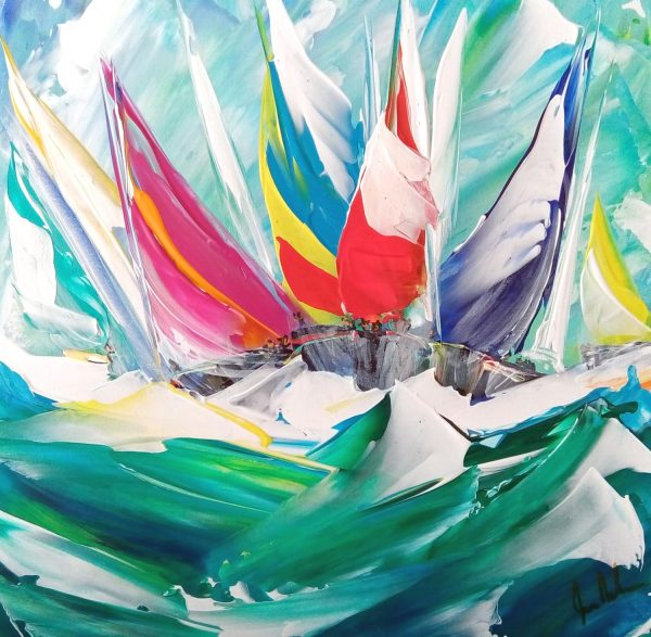 Jan Nelson - Flying Along the Waves! 30x30