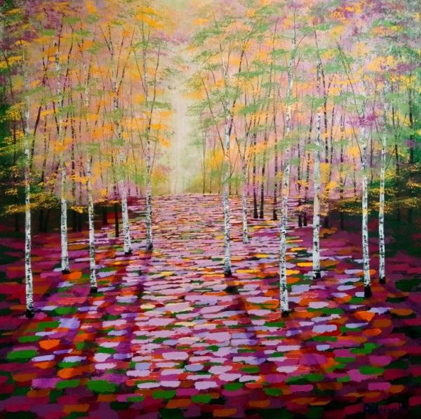 Harmony Wishes acrylics on canvas 90x90cms £1395