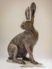hare-sitting-cold-cast-bronze-Nick-Mackman