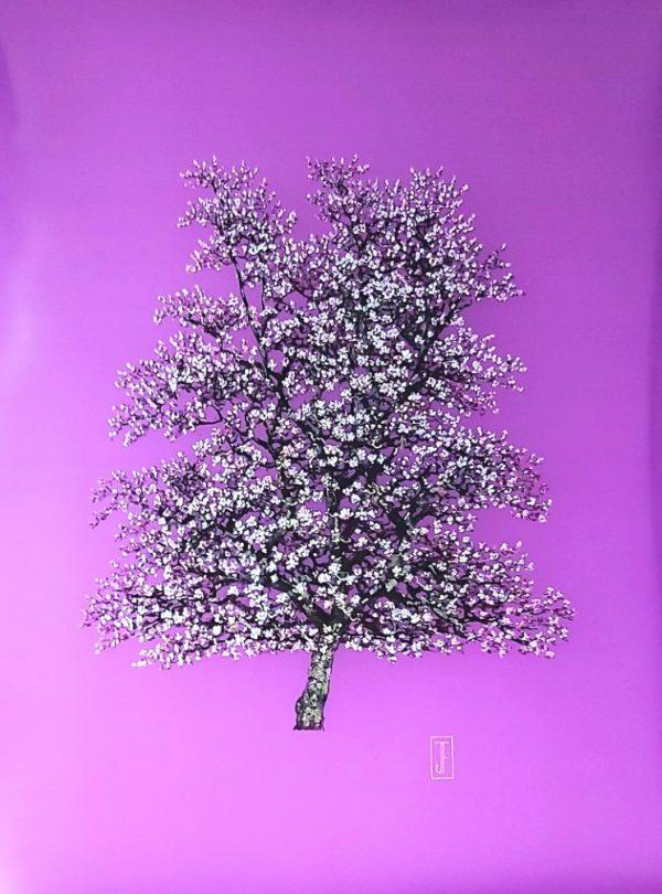 Blossom on Purple oil on perspex, 77x100 £2500