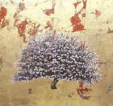 Blossom on gold and red 53cm x 49cm £940