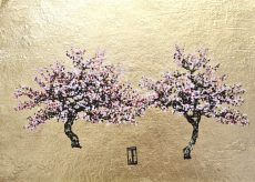 Sugar Blossoms, Oil and gold on paper, 34cm x 25cm, £495jpg