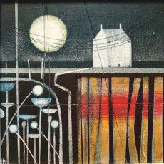 House and moon (i).Heidi Archer.20 x 20cm