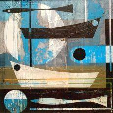 Sky blue water.Heidi Archer.30 x 30cm