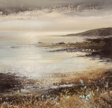 Autumn Colours, Wembury Point Devon, 18 x 18cm, oil on paper, £550.00