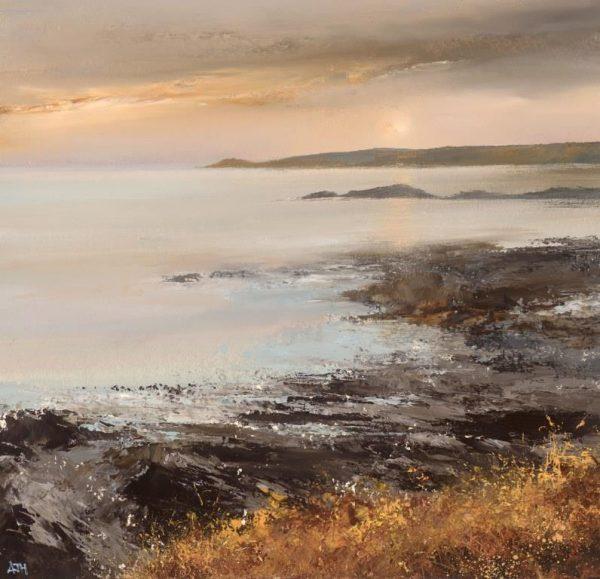 Autumn Light on the Devon Coast, 28 x 29cm oil on paper £775.00