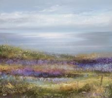 Field of Colour and Light, Start Bay - oil on paper - 31 x 35 cm - oil on paper - £895