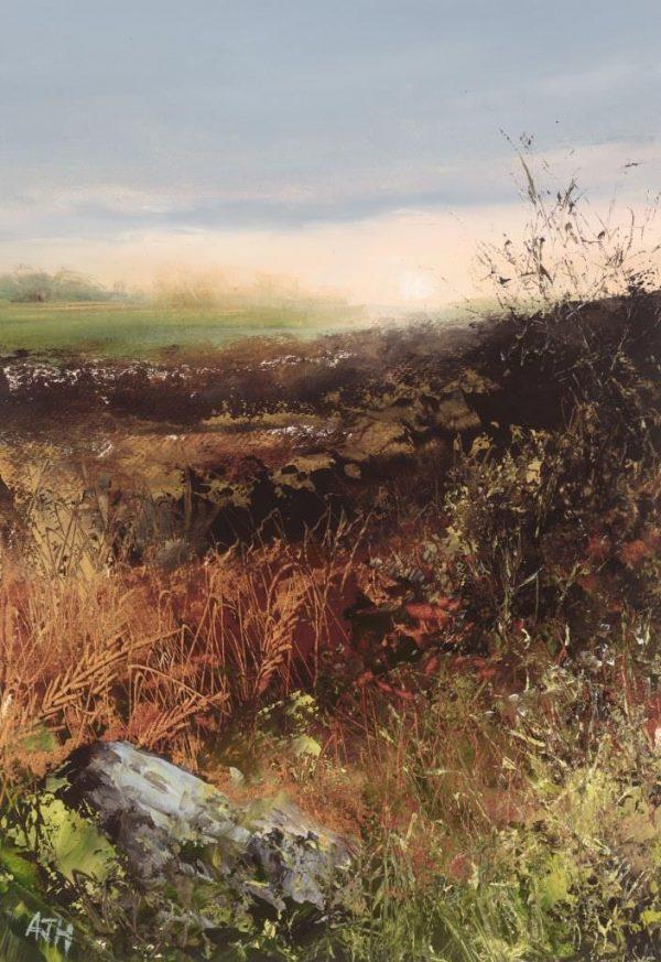 November Iight No1, Little Dartmouth - oil on paper - 17.5 x 13cm - £475.