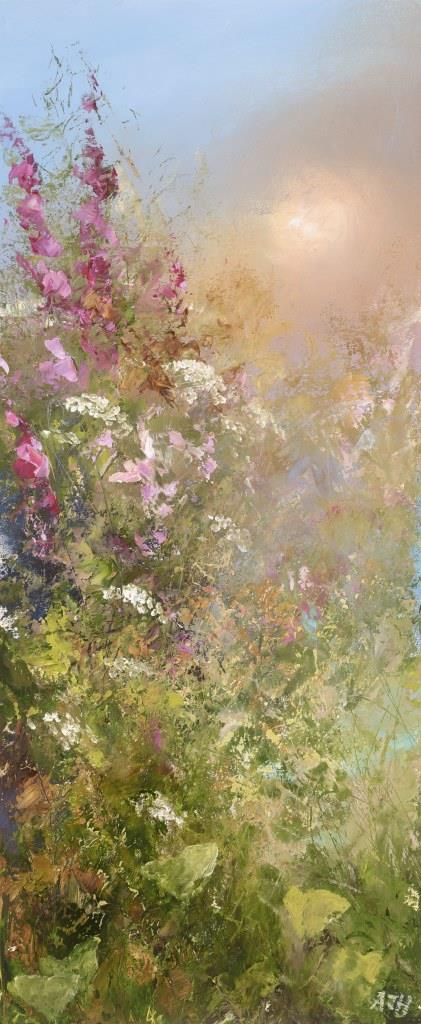 Summer FLowers at Little Dartmouth - oil on paper - 33 x 13cm - £595