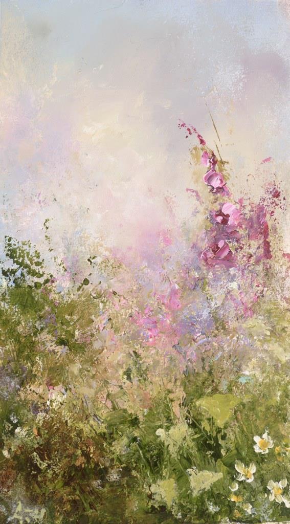 Summer Flowers - oil on paper - 14 x 9cm - £375.00