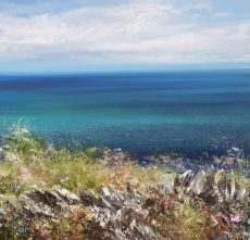 Velvet Blue Sea, Start Bay - oil on paper - 33 x 35cm - £895.
