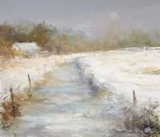 Winter on the Moors , Dartmoor - oil on paper - 24.5 x 28.5 cm - £695.