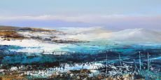 Winter's Day, Hound Torr, Dartmoor - oil on paper - 13 x 26 cm - £550.